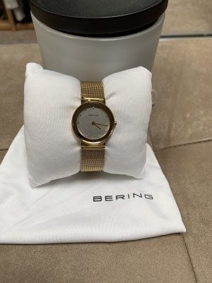 Bering Watch With Metal Strap gold-colored