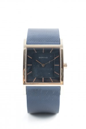 Bering Watch With Metal Strap gold-colored-dark blue casual look
