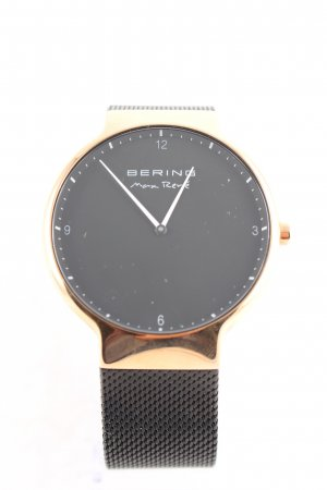 Bering Watch With Metal Strap black-rose-gold-coloured elegant