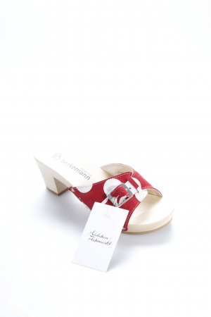 Berkemann Clog Sandalen rot-weiß Punktemuster Gypsy-Look