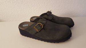 Berkemann Sabots grey-dark grey leather