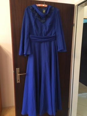 BERLIN Abendkleid blau, Gr. 42, Vintage, original 70er Jahre, wie NEU