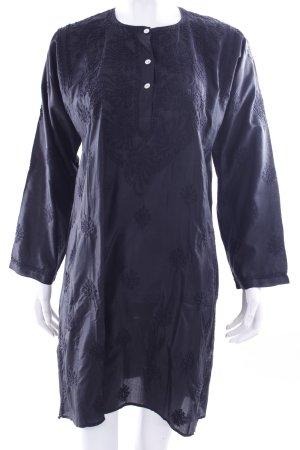 Tunic black silk