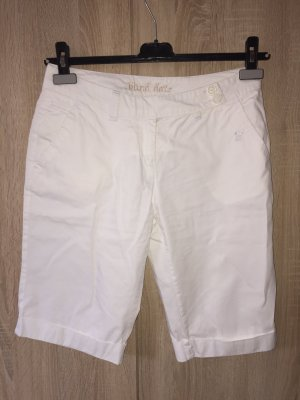 Blind Date Bermudas white cotton