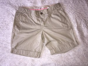 H&M Denim Shorts gold-colored-oatmeal cotton