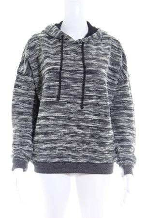 berna Jersey con capucha negro-blanco moteado look casual