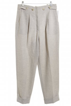 Bernd Berger Suit Trouser cream-beige flecked business style