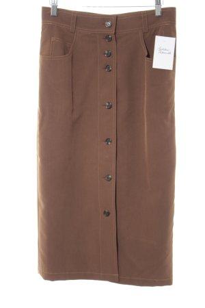 Bernd Berger Pencil Skirt cognac-coloured casual look