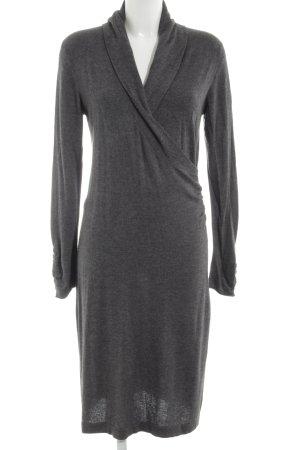 Bernd Berger Longsleeve Dress light grey flecked business style