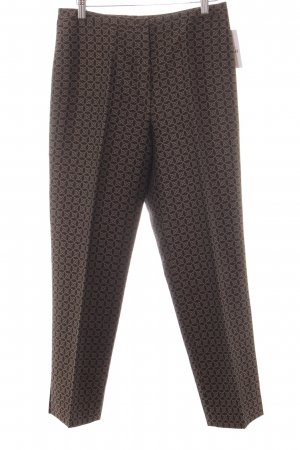 Bernd Berger Jersey Pants dark brown-cream embellished pattern business style
