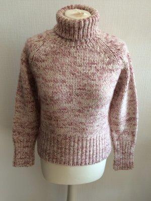 Bernd Berger Viventy Rollkragenpullover Wollpullover rosa meliert kurzer Pullover Cropped Gr. 40