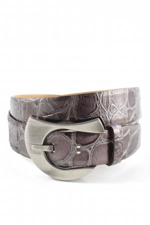 Bernd Götz Leather Belt lilac animal pattern casual look