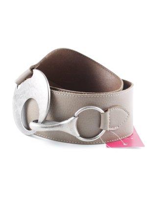 Bernd Götz Cintura di pelle marrone-grigio stile semplice