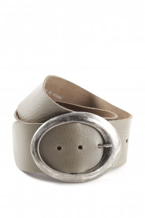 Bernd Götz Cintura in ecopelle grigio chiaro stile casual