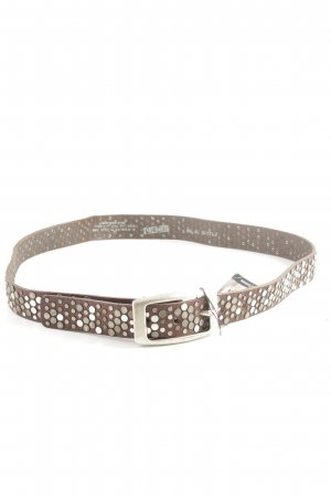 Bernd Götz Studded Belt brown-bronze-colored casual look