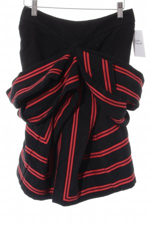 bernhard willhelm Circle Skirt black-red striped pattern elegant