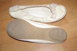 Bernini italienische Lederballerinas mit Schleife und Schaumsohle