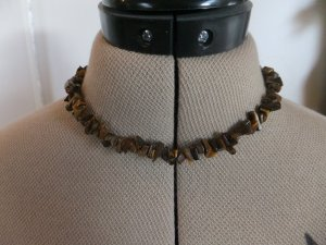 Necklace brown-gold-colored