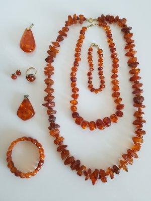 Necklace cognac-coloured