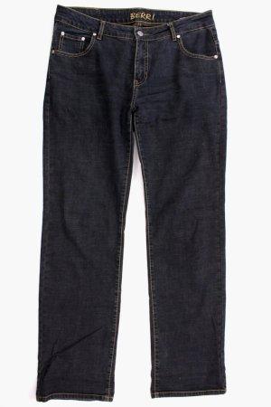 Berri Sport Couture Jeans coupe-droite bleu foncé