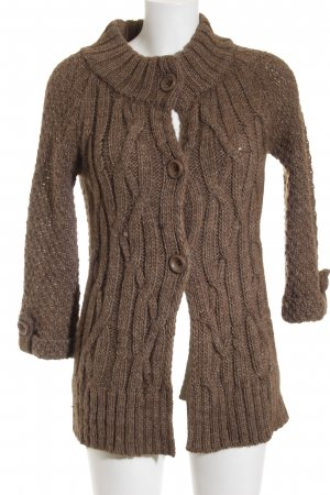 berri Cardigan light brown cable stitch fluffy