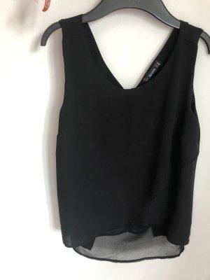 Bershka Camisa de manga corta negro