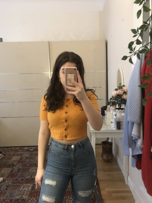 Bershka Off the shoulder top oranje
