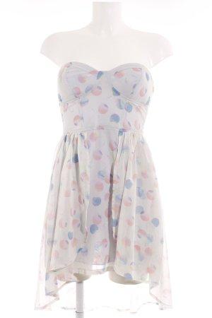 Bershka Babydoll-jurk gestippeld patroon romantische stijl