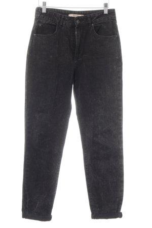 Bershka Baggyjeans schwarz meliert Jeans-Optik
