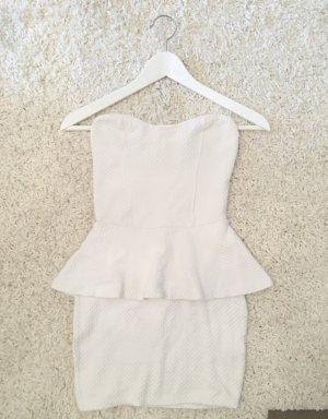 Bershka Mini vestido blanco-blanco puro