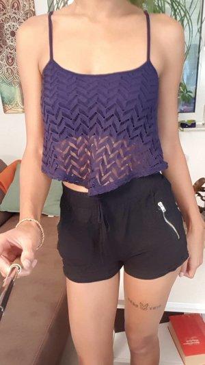 Bershka Cropped shirt donkerblauw
