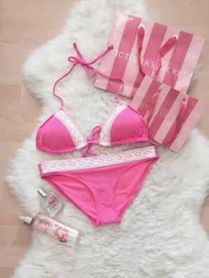 Bershka Bikini Hot Pink Swimwear Push Up NEU Gr.S