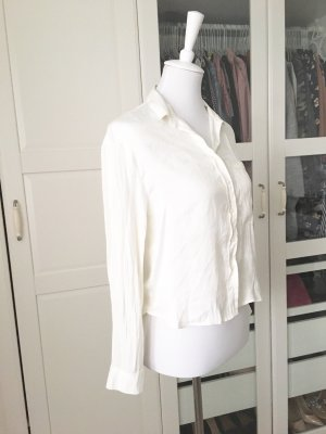 Bershka Long Sleeve Blouse white