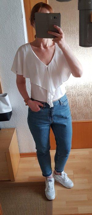 Bershka Short Sleeved Blouse white