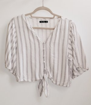 Bershka Blusa bianco-grigio chiaro