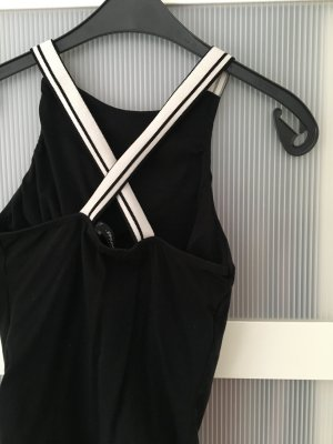 Bershka Top black-white