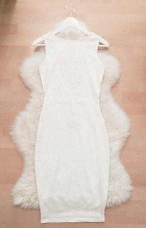Bershka Bodycon Dress Blogger Spitze Kleid Rückenausschnitt Gr.XS