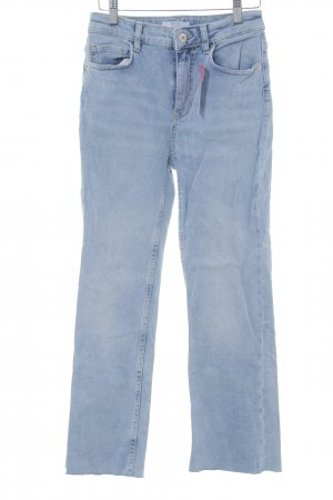 Bershka Jeans bootcut bleu azur style décontracté