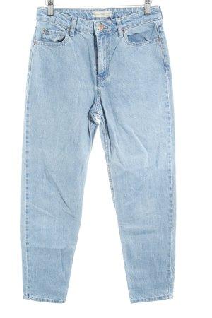 Bershka Boyfriend Jeans light blue flecked street-fashion look