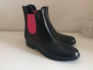 Bershka by Zara Gummistiefel 41 NEU Chelsie  Boots Stiefeletten pink schwarz