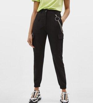 Bershka Pantalone cargo nero