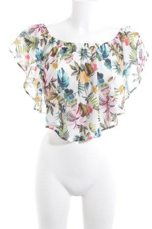 Bershka Carmen-Bluse florales Muster Boho-Look