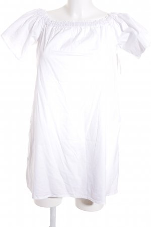 Bershka Carmen-Bluse weiß schlichter Stil