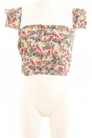 Bershka Cropped Top Blumenmuster Beach-Look