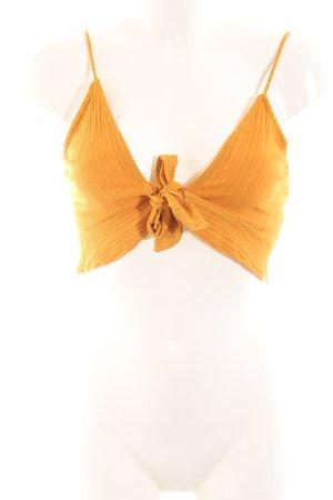 Bershka Cropped Top light orange casual look