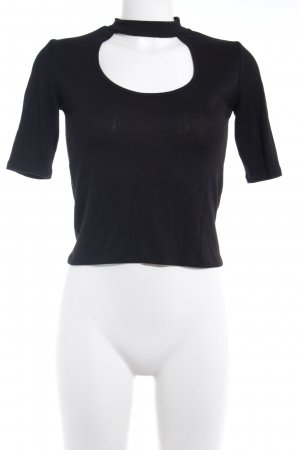 Bershka Top cut out negro elegante