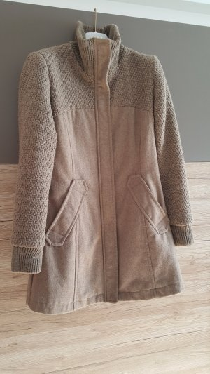 Bershka Coat Dress grey brown