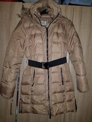 Bershka Quilted Jacket camel