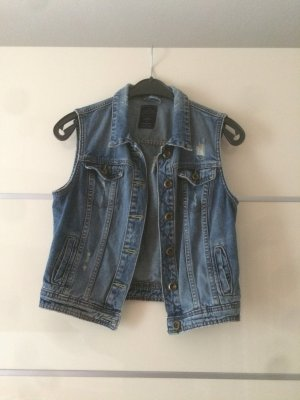 Bershka Denim Vest multicolored
