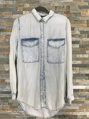 Bershka Denim Longbluse in used look gr. Xs